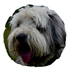 Bearded Collie Large 18  Premium Round Cushions
