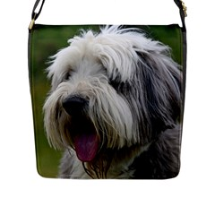 Bearded Collie Flap Messenger Bag (L)