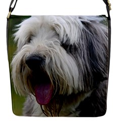 Bearded Collie Flap Messenger Bag (S)
