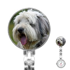 Bearded Collie Stainless Steel Nurses Watch