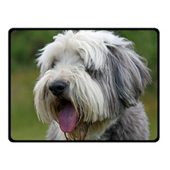 Bearded Collie Double Sided Fleece Blanket (Small)