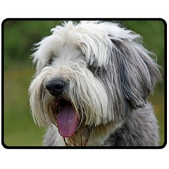 Bearded Collie Double Sided Fleece Blanket (Medium)