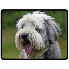 Bearded Collie Double Sided Fleece Blanket (Large)