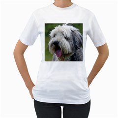 Bearded Collie Women s T-Shirt (White)