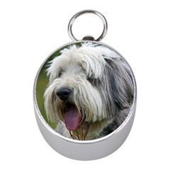 Bearded Collie Mini Silver Compasses