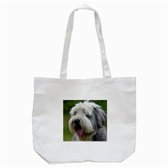 Bearded Collie Tote Bag (White)