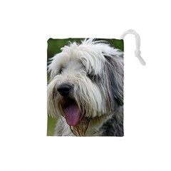 Bearded Collie Drawstring Pouches (Small)
