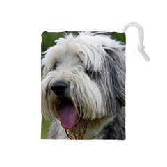 Bearded Collie Drawstring Pouches (Medium)