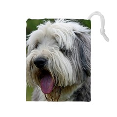 Bearded Collie Drawstring Pouches (Large)
