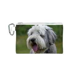 Bearded Collie Canvas Cosmetic Bag (S)
