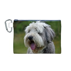 Bearded Collie Canvas Cosmetic Bag (M)