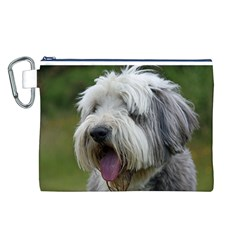 Bearded Collie Canvas Cosmetic Bag (L)