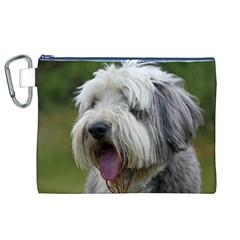 Bearded Collie Canvas Cosmetic Bag (XL)