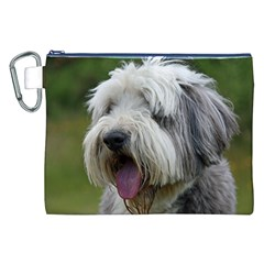 Bearded Collie Canvas Cosmetic Bag (XXL)