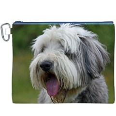 Bearded Collie Canvas Cosmetic Bag (XXXL)