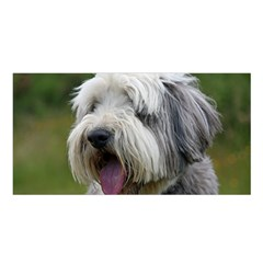 Bearded Collie Satin Shawl