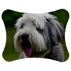 Bearded Collie Jigsaw Puzzle Photo Stand (Bow)