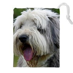 Bearded Collie Drawstring Pouches (XXL)