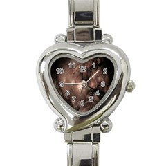 A Fractal Image In Shades Of Brown Heart Italian Charm Watch