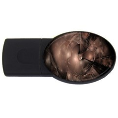 A Fractal Image In Shades Of Brown Usb Flash Drive Oval (4 Gb)