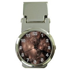 A Fractal Image In Shades Of Brown Money Clip Watches