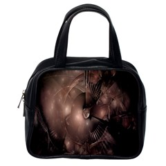 A Fractal Image In Shades Of Brown Classic Handbags (One Side)