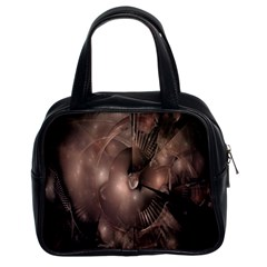 A Fractal Image In Shades Of Brown Classic Handbags (2 Sides)