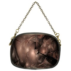 A Fractal Image In Shades Of Brown Chain Purses (Two Sides)