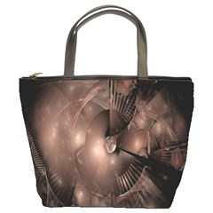 A Fractal Image In Shades Of Brown Bucket Bags