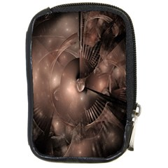 A Fractal Image In Shades Of Brown Compact Camera Cases