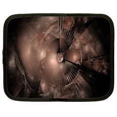 A Fractal Image In Shades Of Brown Netbook Case (xl)