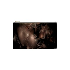 A Fractal Image In Shades Of Brown Cosmetic Bag (Small)