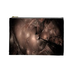 A Fractal Image In Shades Of Brown Cosmetic Bag (large)