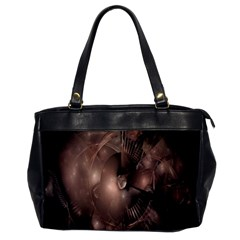 A Fractal Image In Shades Of Brown Office Handbags