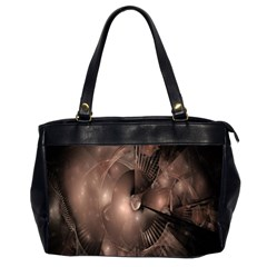 A Fractal Image In Shades Of Brown Office Handbags (2 Sides)