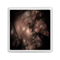 A Fractal Image In Shades Of Brown Memory Card Reader (Square)
