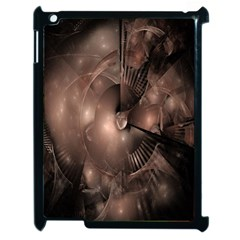 A Fractal Image In Shades Of Brown Apple iPad 2 Case (Black)
