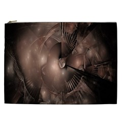 A Fractal Image In Shades Of Brown Cosmetic Bag (XXL)