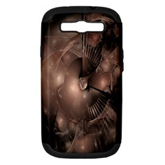 A Fractal Image In Shades Of Brown Samsung Galaxy S Iii Hardshell Case (pc+silicone)
