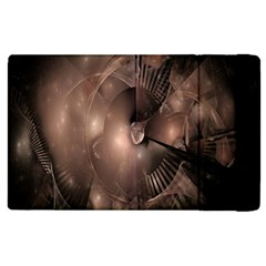 A Fractal Image In Shades Of Brown Apple iPad 3/4 Flip Case