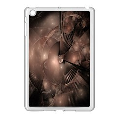 A Fractal Image In Shades Of Brown Apple iPad Mini Case (White)