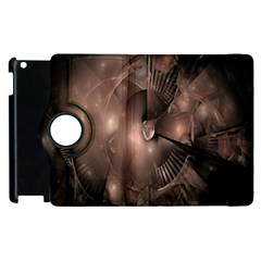A Fractal Image In Shades Of Brown Apple Ipad 2 Flip 360 Case