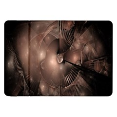 A Fractal Image In Shades Of Brown Samsung Galaxy Tab 8 9  P7300 Flip Case