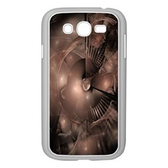 A Fractal Image In Shades Of Brown Samsung Galaxy Grand DUOS I9082 Case (White)