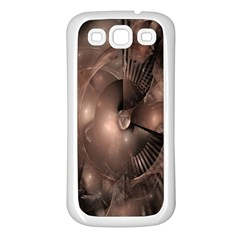 A Fractal Image In Shades Of Brown Samsung Galaxy S3 Back Case (White)