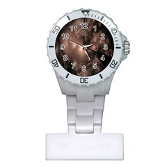 A Fractal Image In Shades Of Brown Plastic Nurses Watch