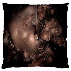 A Fractal Image In Shades Of Brown Large Flano Cushion Case (Two Sides)