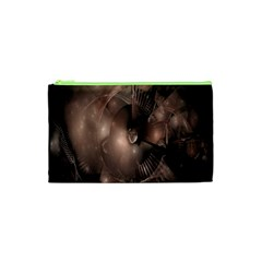 A Fractal Image In Shades Of Brown Cosmetic Bag (xs)