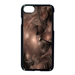 A Fractal Image In Shades Of Brown Apple Iphone 7 Seamless Case (black)