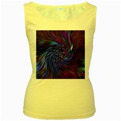 Stylish Twirl Women s Yellow Tank Top